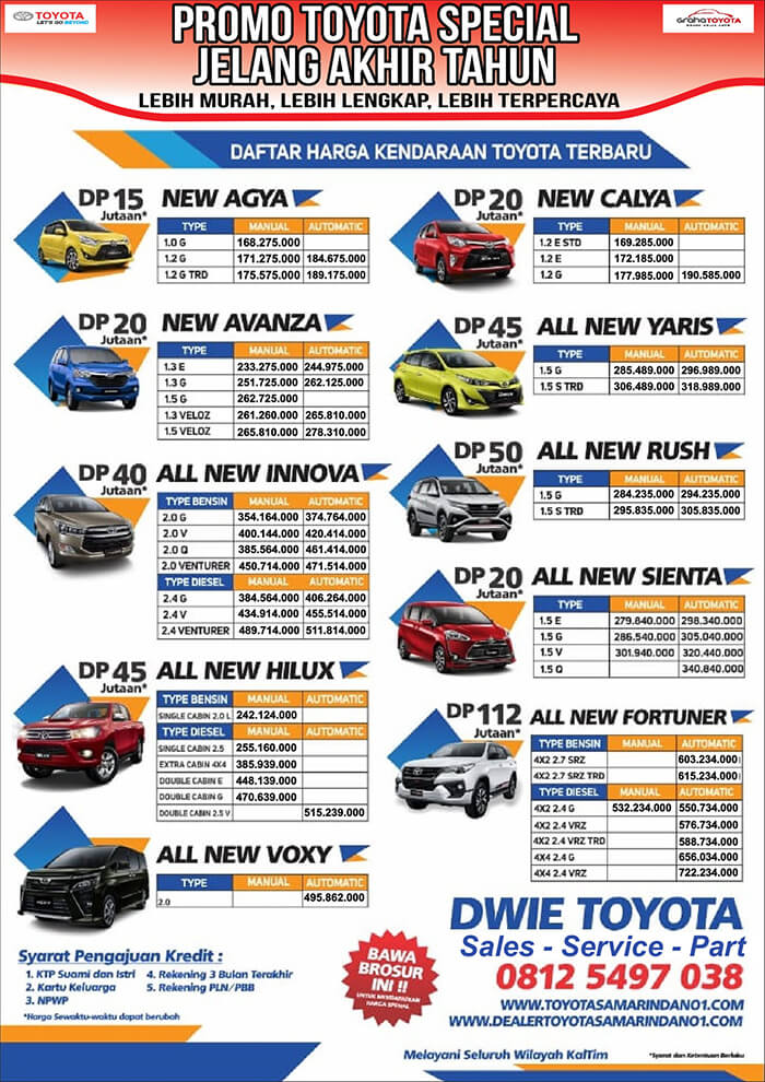 Promo Toyota Samarinda Special Jelang Akhir Tahun Toyota Samarinda