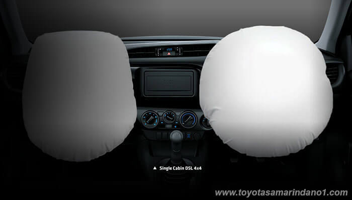 Front Drive Airbags + Passenger Airbags, Driver, Knee Airbag