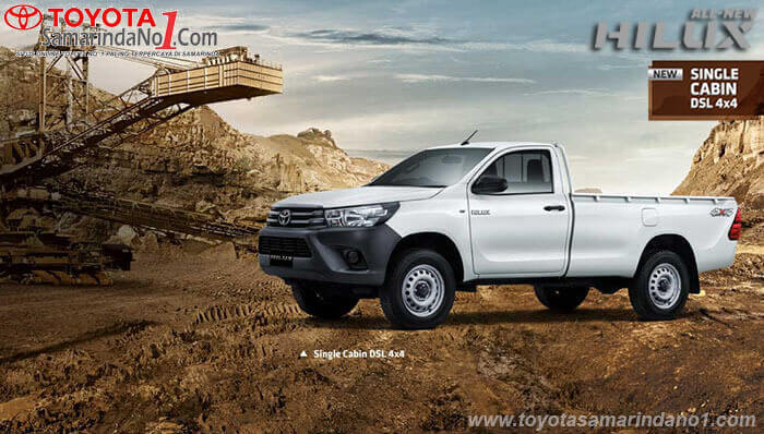 Spesifikasi All New Hilux S Cabin 4x4 2019