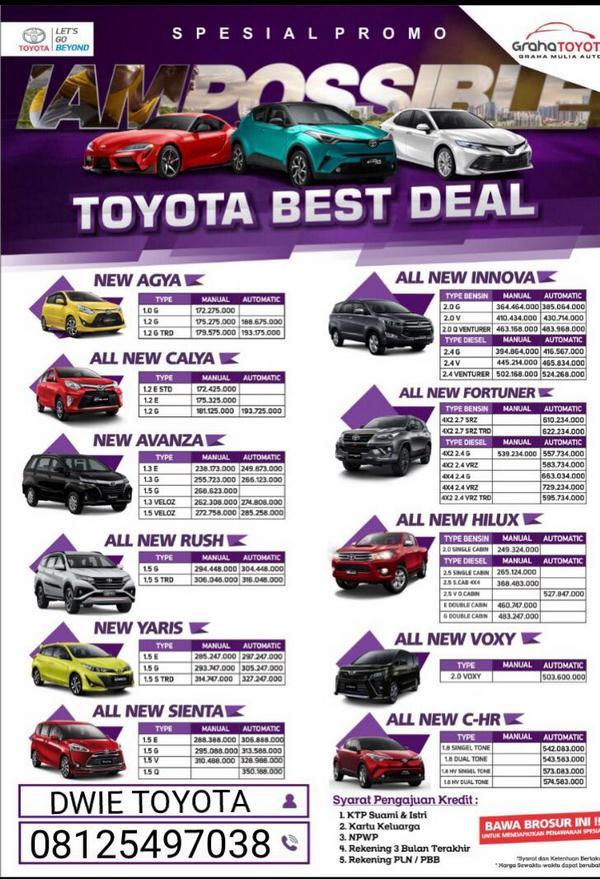 Promo Toyota Samarinda September 2019